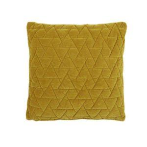 Sinapinkeltainen sametti tyynynpäällinen